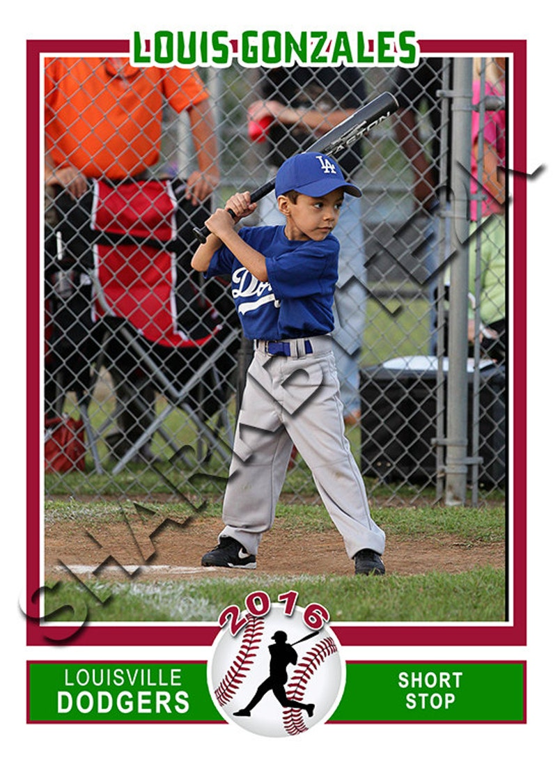 Baseball Sports Trader Card Template For Photoshop ...