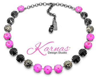 d10b00b4228 PUNK ROCK GIRL 12mm Statement Necklace Made With Swarovski Crystal *Choose  Your Finish *Karnas Design Studio™ *Free Shipping*