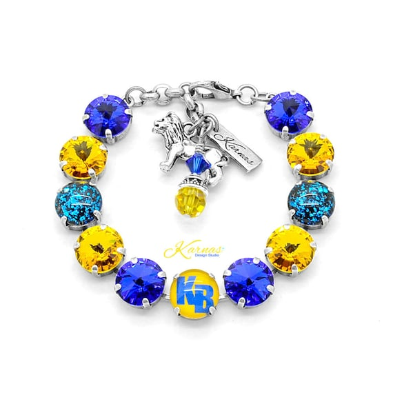 9dca1ac8f28c PERSONALIZED BRACELET Made With 12mm Swarovski Crystals Use