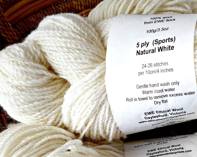 Ethical wool yarn