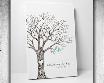 Fingerprint Wedding Tree Thumbprint Wedding Guest Book Tree Unique Guest book alternative Vintage Wedding Tree Unique Custom Wedding Gift