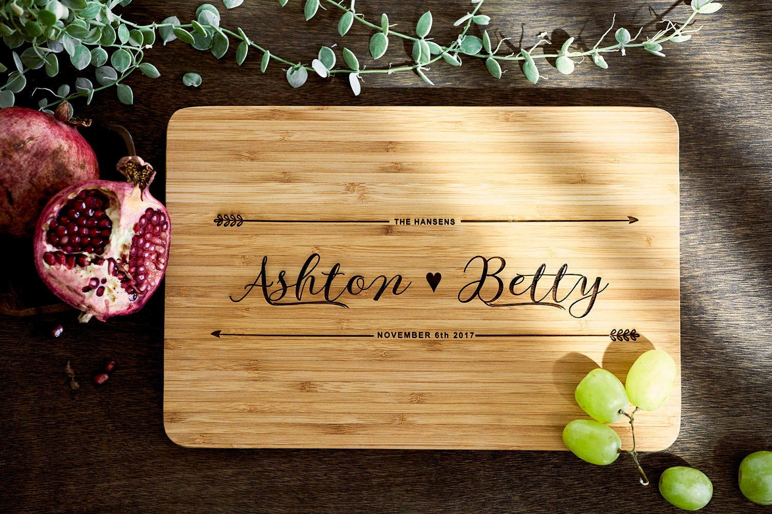 Christmas Gift Ideas Custom Name chopping board for couples | Etsy