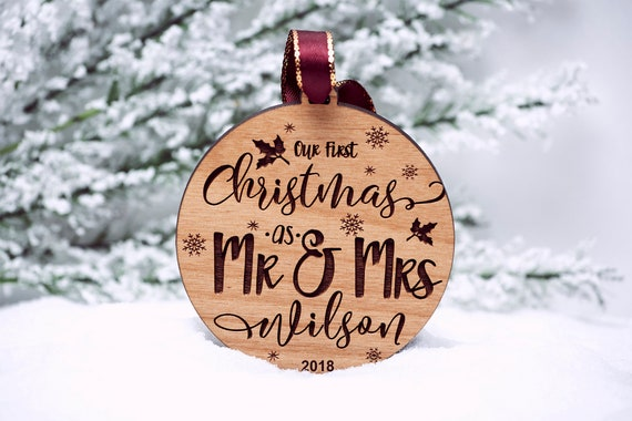 Our First Christmas Ornament Married Personalized Christmas | Etsy