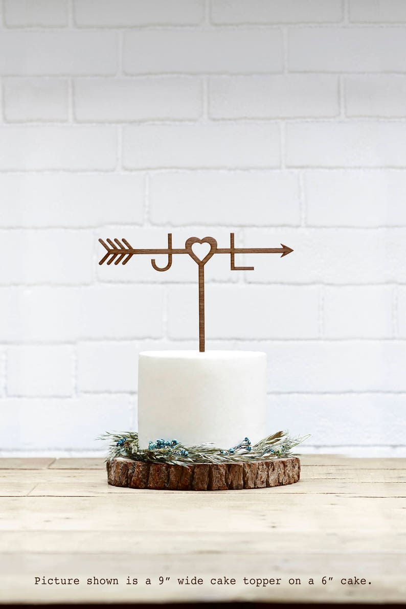 Customized Wedding Cake Topper Personalized Cake Topper for image 0
