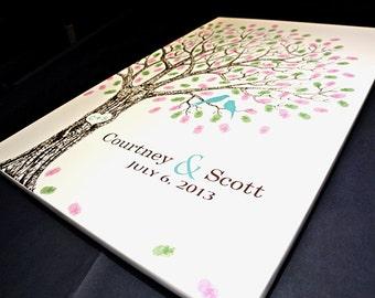 Guest Book Wedding Tree Personalized Wedding Gift Wedding Birch Tree Guest Book Alternative Wedding Fingerprint Tree Wedding Tree #L