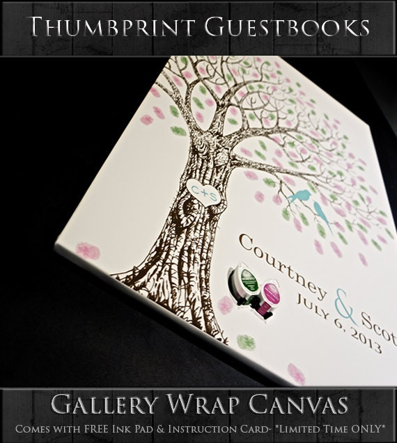 Thumb Print Wedding Tree Guest Book Alternative Print | Etsy