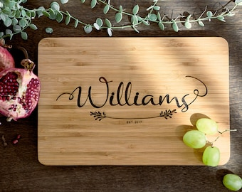 Personalized Cutting Board Personalized Custom Cutting Board Wedding Gift Cutting Board Engraved Cutting Board Anniversary Cutting Board #22