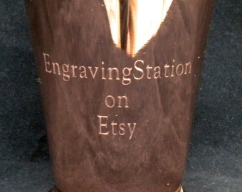 Engraved Copper Mint Julep Cup, 12 oz, High  Quality, Restaurant Grade