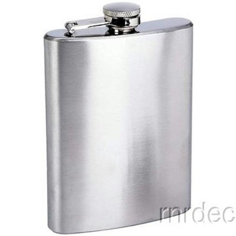 Flask   Stainless Steel 8 Oz  with Free Engraving