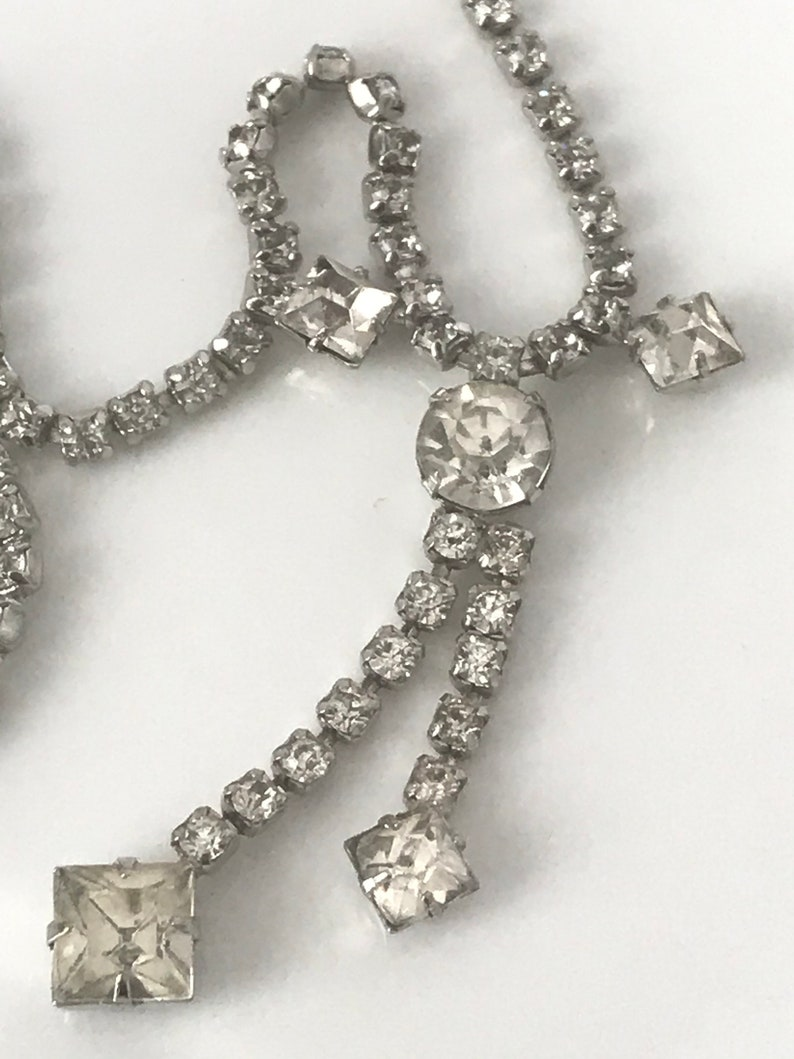 Coro vintage rhinestone necklace signed