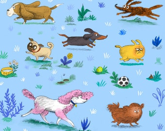 Dogs Wrapping Paper / Set of 3 sheets