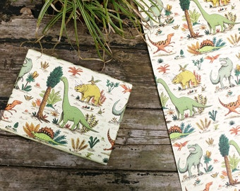 Dinosaur Wrapping paper / Set of 3 sheets
