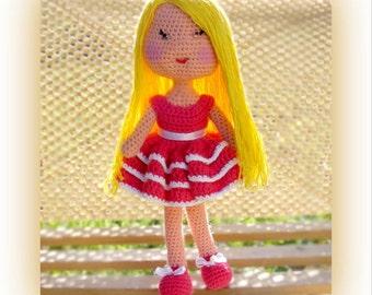 Crochet doll pattern Lilla doll pattern