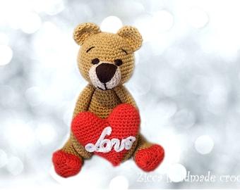 Amigurumi Valentine Bear pdf pattern
