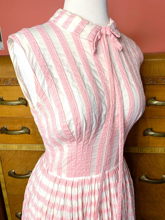 1950s Suzy Perette Pink Gingham Dress - image 5