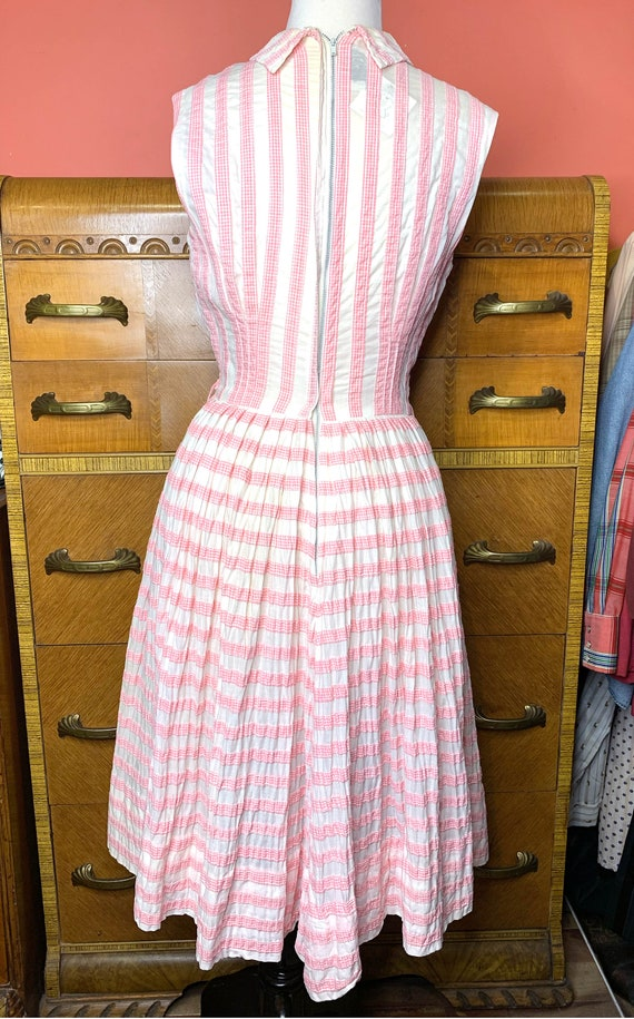 1950s Suzy Perette Pink Gingham Dress - image 3