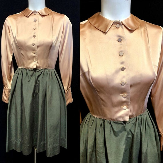 1950's Heather Sportswear Satin Top Fille Skirt Dr