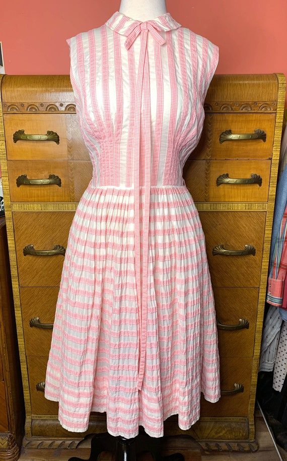 1950s Suzy Perette Pink Gingham Dress - image 2