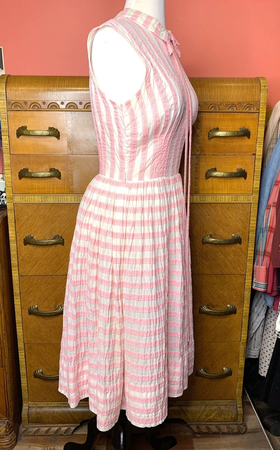 1950s Suzy Perette Pink Gingham Dress - image 6
