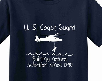 "U.S. Coast Guard - ""Natural Selection"" Heavy Cotton T-Shirt"