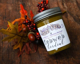 Pumpkin Latte Candle - Halloween Candles - Cobweb Cordial - Mocha Candle - Pumpkin Chocolate Candle - Pumpkin Coffee Candle - Soy Wax Candle