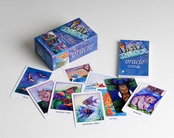 Oracle Deck - HIGHER INTUITIONS - Affirmation Cards - Animal Deck - Twin Flame - Fortune Telling - Oracle et Tarot - Watercolor Animals