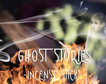 GHOST STORIES Incense Sticks - Halloween Incense - Bonfire Scent - Samhain Altar - Brown Sugar Incense - Autumn Leaves - Toasted Marshmallow