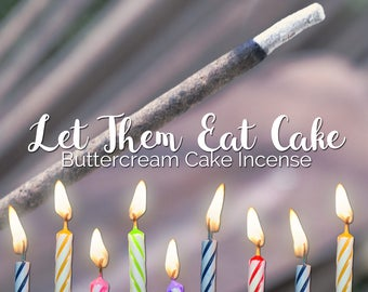 Birthday Cake Incense Sticks - Buttercream Frosting Incense -Vanilla Frosting Incense - Vanilla Incense