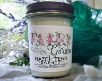 FAIRY GARDEN Soy Wax Candle - Snickerdoodle Candle - Romantic Candle - Gardenia Candle - Homemade Candle - Soy Candles - Autumn Candles