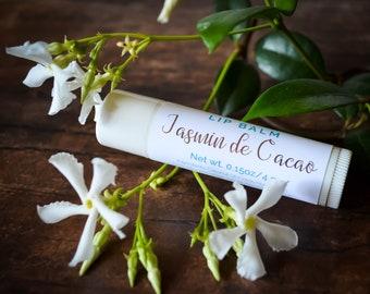 Chocolate Jasmine Lip Balm - All Natural Lip Balm - Chocolate Lip Balm - Jasmine Lip Balm - Natural Lip Gloss - Aromatherapy Lip Balm