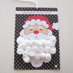 Printable Advent Calendar  | Santa Beard | Countdown Calendar | Xmas Calendar | Instant Download | Christmas Countdown Calendar | Xmas print