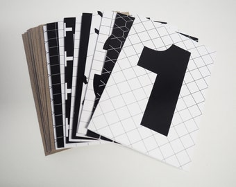 Yamba Scandi | Number cards | 10 pack | Birthday card pack