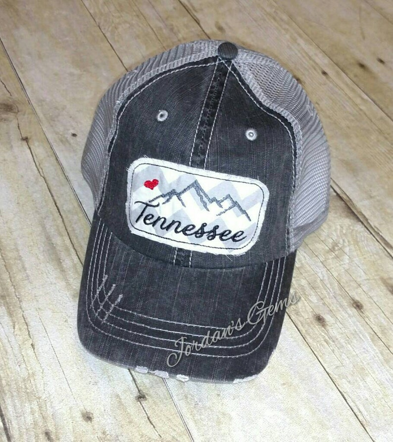 bdf51ffb3bb Tennessee Smoky Mountains  Love Embroidered Grey and White