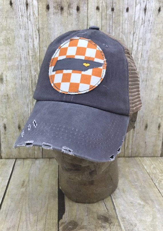 Knoxville Tennessee State Pride Embroidered Orange And White Etsy