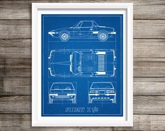 Race car blueprint automotive blueprint blueprint art etsy fiat x19 blueprint fiat decor car blueprint instant download fiat x19 blue prints blueprint art fiat blueprint decor 8x10 11x14 malvernweather Choice Image