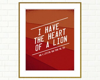 Heart Of A Lion Etsy
