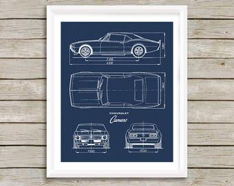 Car blueprint   Etsy