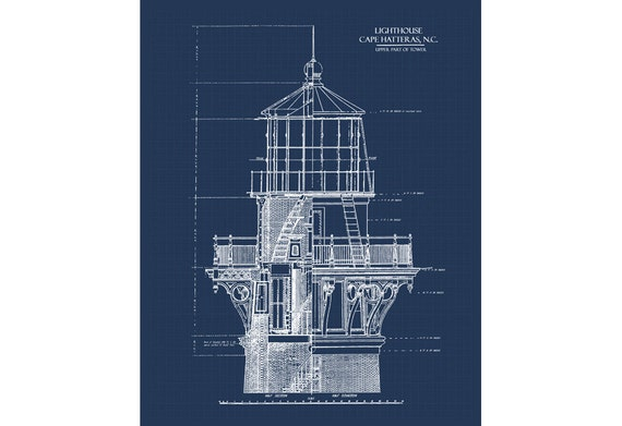 Lighthouse blueprint blueprint art download nautical decor etsy lighthouse blueprint blueprint art download nautical decor blueprints printable art blue print lighthouse decor 8x10 11x14 16x20 malvernweather Image collections
