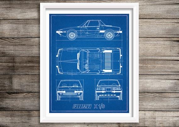 Fiat X19 Bauplan Fiat Dekor Auto Bauplan Instant Download