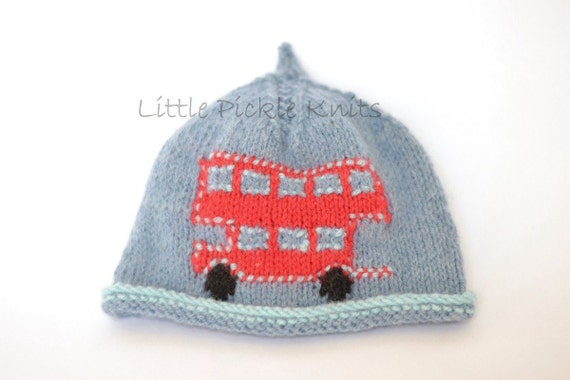 Baby Knitting Patterns 4ply Beanie Hat Little Bus Newborn Etsy