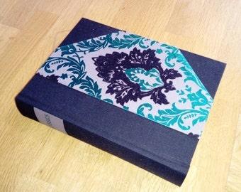 Ulysses, James Joyce 1958 Upcycled/rebound. Black and Green Flocked 1/2 binding