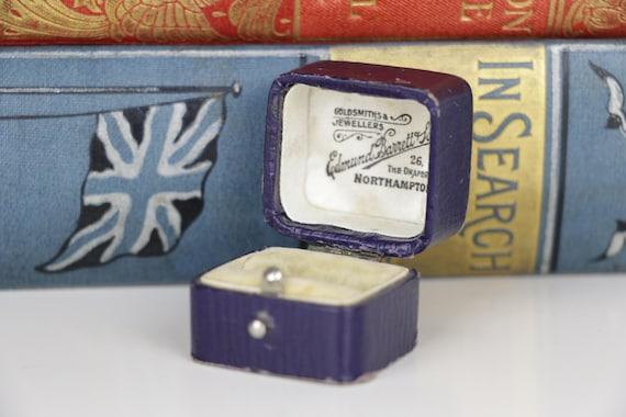 Vintage Ring Box - Blue Engagement or Wedding Ring