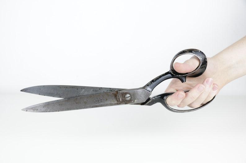 Nożyce Vintage 12 Duże Nożyczki Do Szycia Papieru Nożyce Do Haftu British Made 30cm Duży