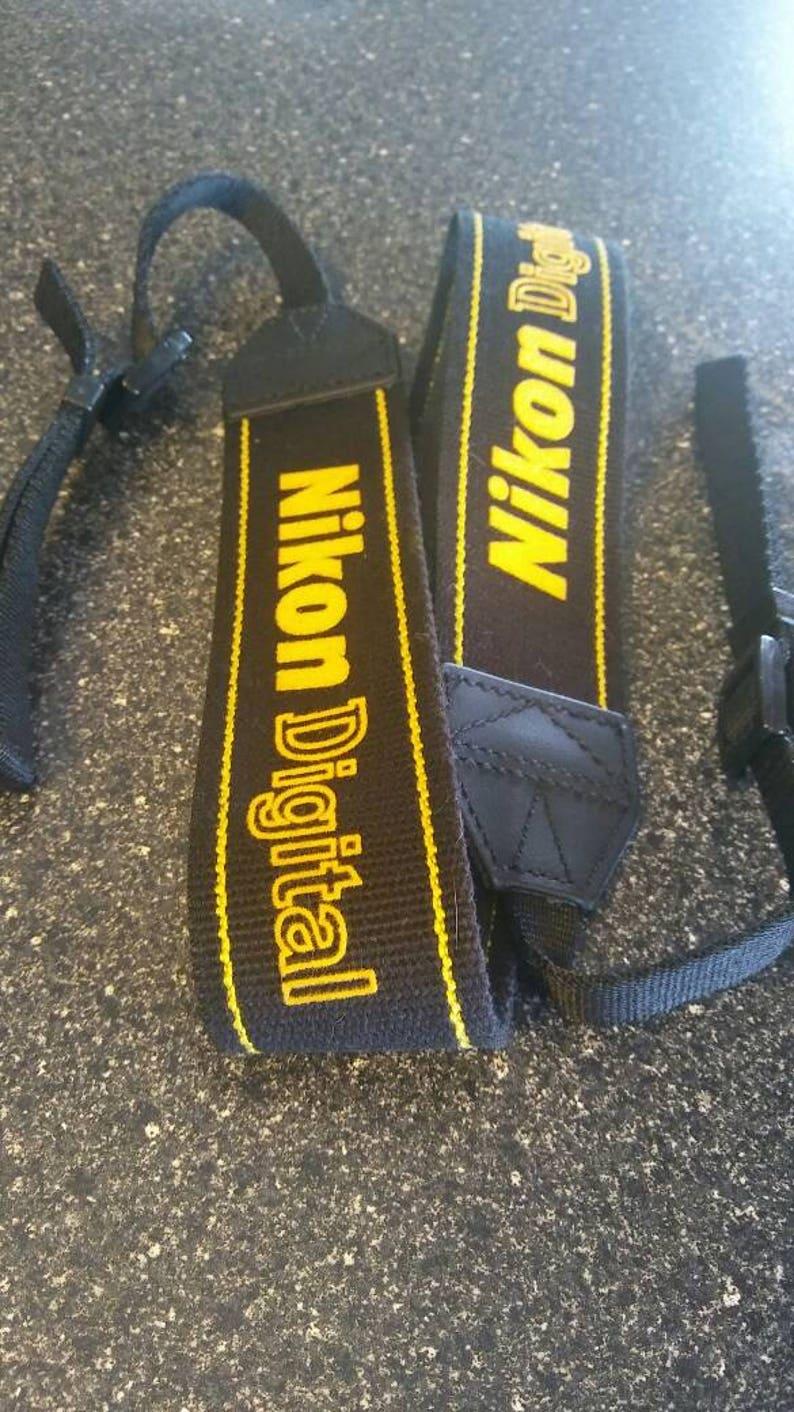 Nikon Digital Woven Camera Strap Black and Yellow