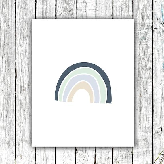 Nursery Art Printable, Rainbow Art, Boy's Nursery,  Digital Download #731
