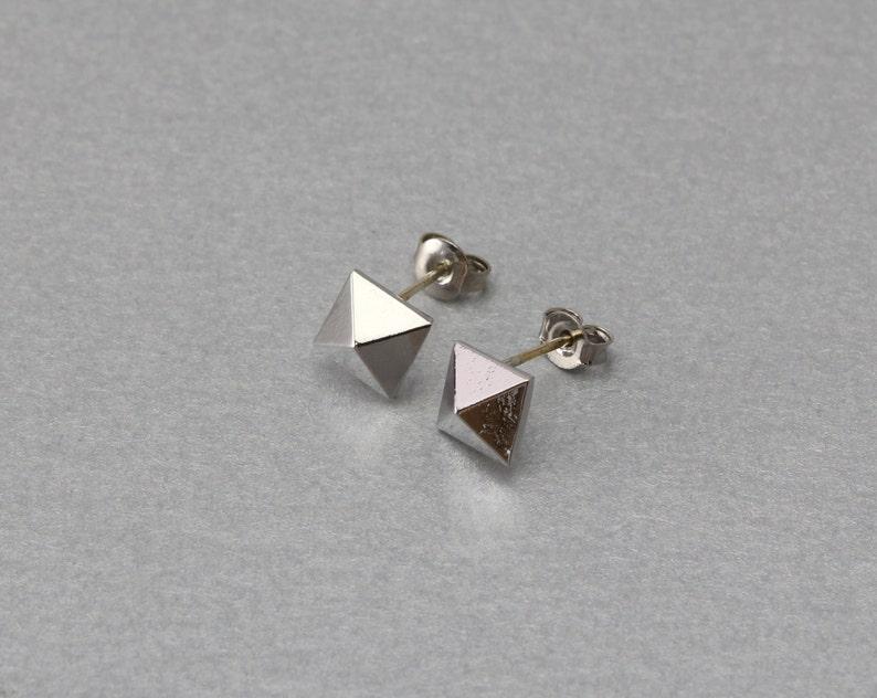 Diamond Post Earring Polished Original Rhodium Plated 10 Pieces  C3173S-010