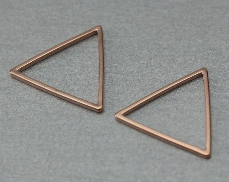 Rose Gold Plated 10 Pieces  C4031R-010 Triangle Brass Connector