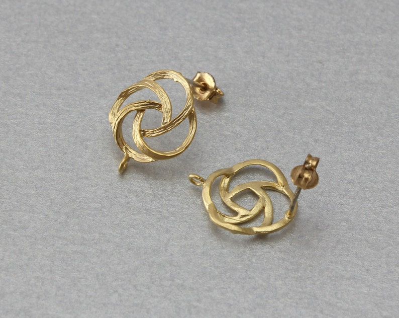 Round Post Earring 10 Pieces  C3096G-010 Matte Gold Plated