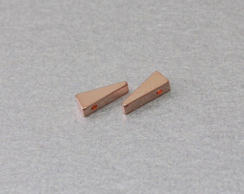 Rose Gold Plated 10 Pieces  C9158R-010 Triangle Brass Bead