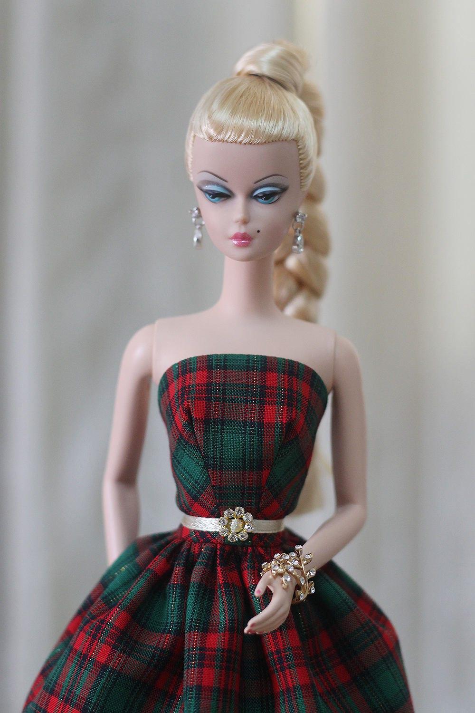 silkstone barbie no l robe robe de barbie plaid robe de etsy. Black Bedroom Furniture Sets. Home Design Ideas